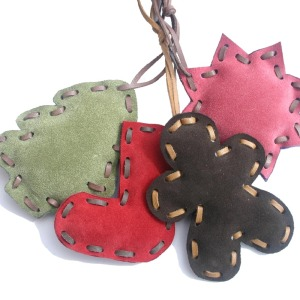 Suede Christmas Tree Decorations from Little Black Duck