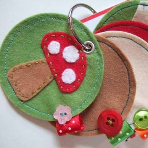 Toadstool Needle Case from PaperFish