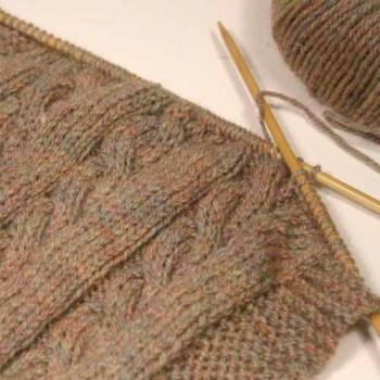 Cable Knit Dolls Blanket Victoria Peat Little Black Duck