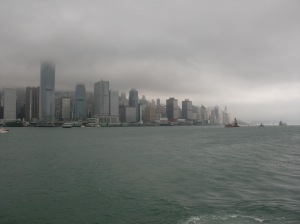 Low lying cloud in Hong Kong