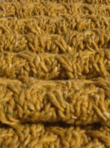 Shifting sands scarf detail