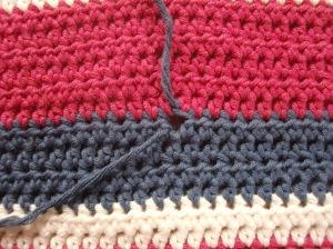 Holes in my crochet baby blanket