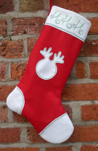 Felt Chrtistmas Stocking Sewing Pattern available on Etsy