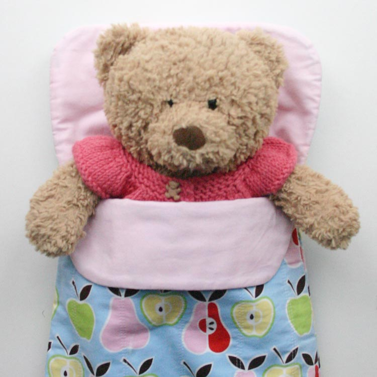 Doll and Teddy SLeeping Bag Blog Button