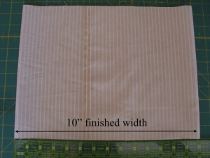 Simple Envelope Pillow Case Finished Width