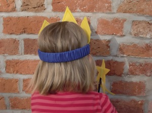 Felt Star Crown Back View