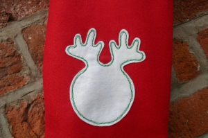 Felt Christmas Stocking Sewing Pattern Reindeer Motif