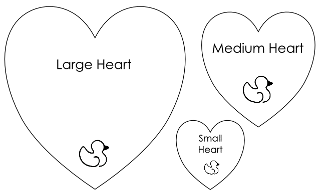 Magic image in free printable heart templates