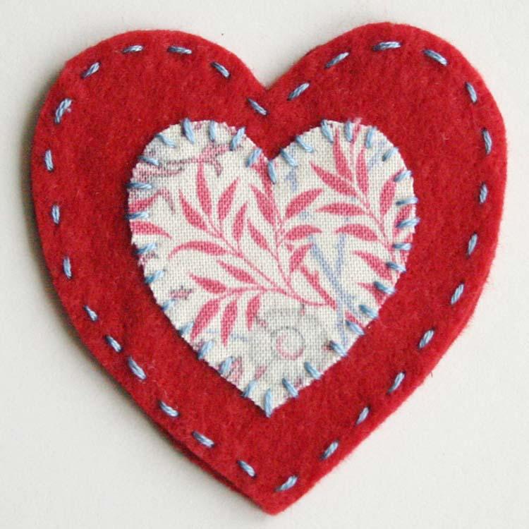 Stitched Felt Heart