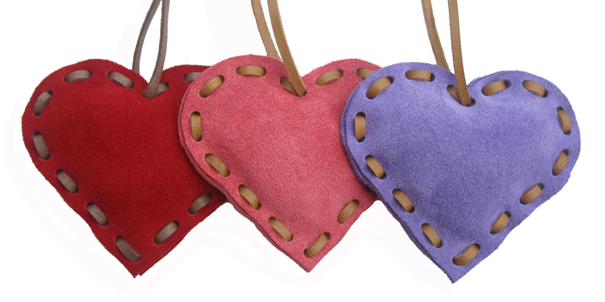 Suede Hearts by Little Black Duck