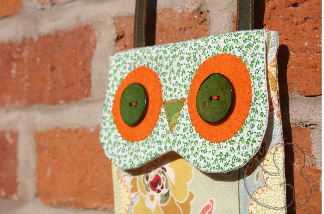 Eye Detail of Owl Mini Bag