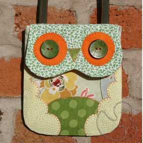 Owl Mini Bag Sewing Pattern in Green
