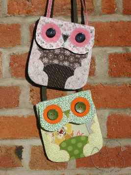Pair of Mini Owl Bags