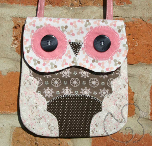 Owl Mini Bag Sewing Bag in Pink