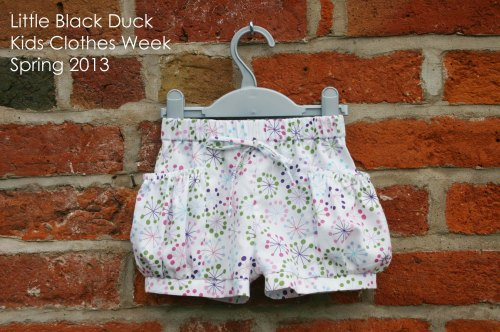 Bubble Pocket Shorts. Pattern from Elegance and Elephants
