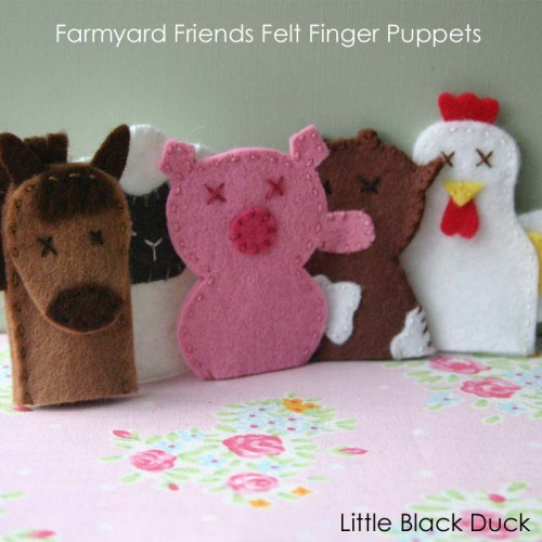 Farm Friends Finger Puppets