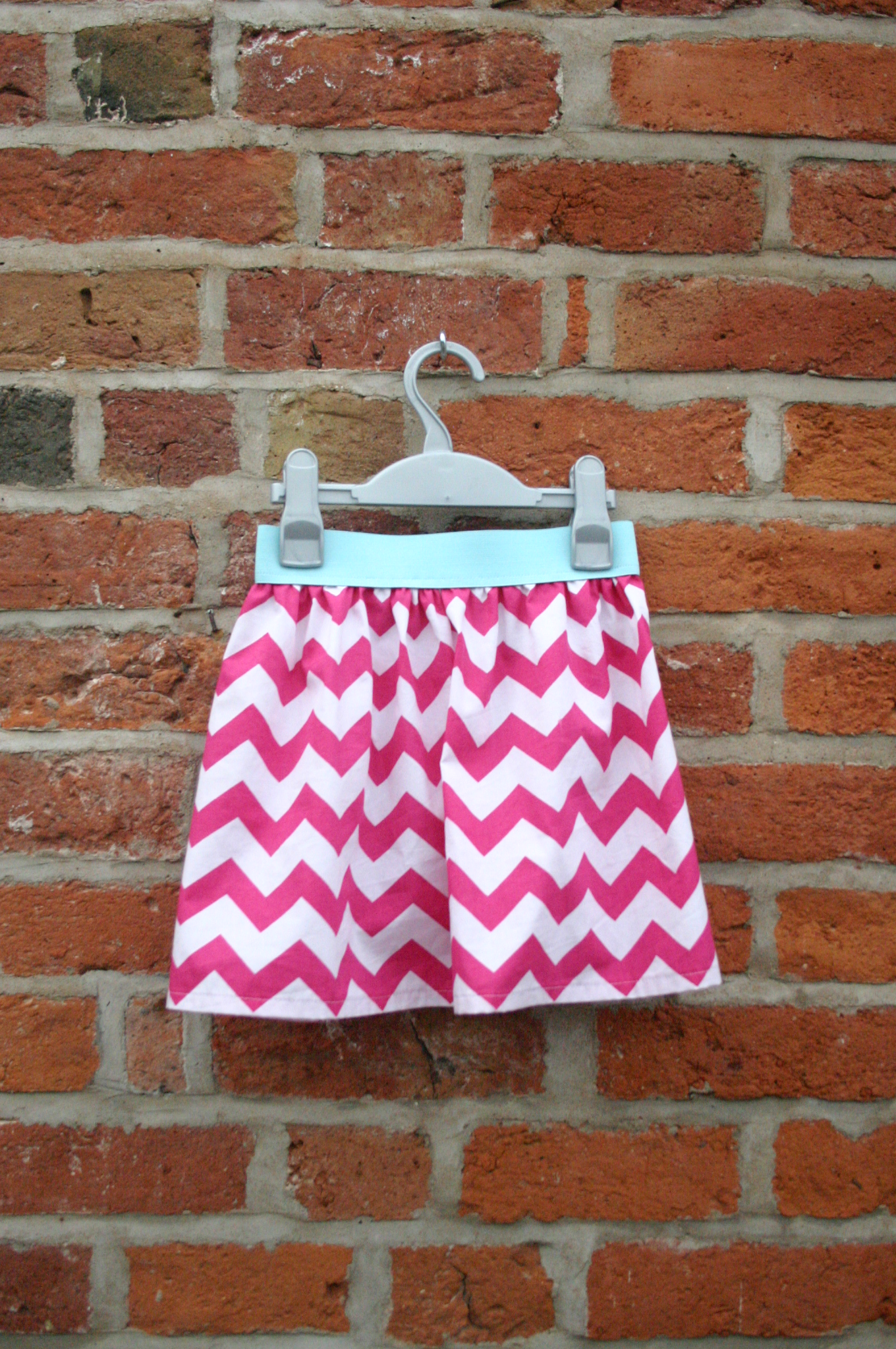 Pink Chevron Skirt