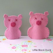 Piggy Finger Puppet Before and After