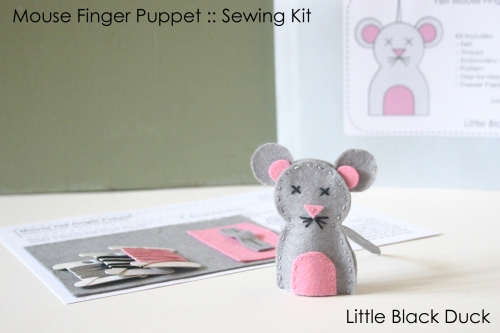 Mouse Finger Puppet Sewing Kit