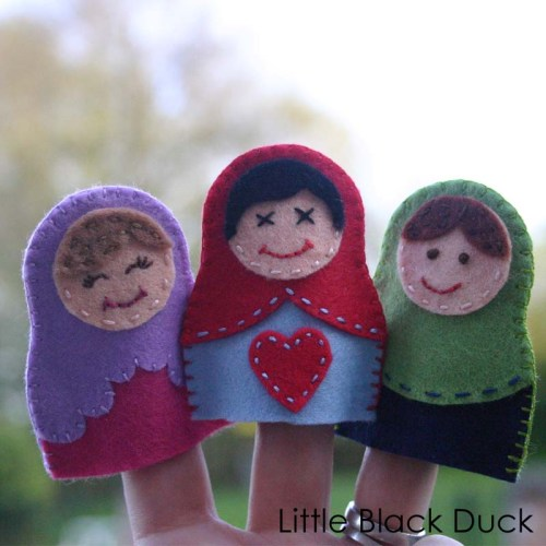 Matryoshka Finger Puppet Sewing Pattern