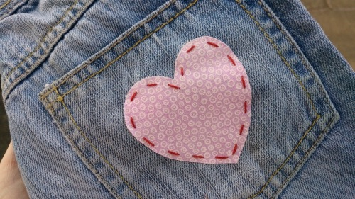 Heart on a back pocket