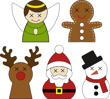 Christmas Friends Colour Options