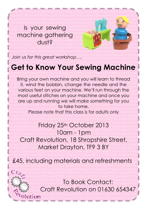 Get to Know Your Sewing Machine Sewing Workshop