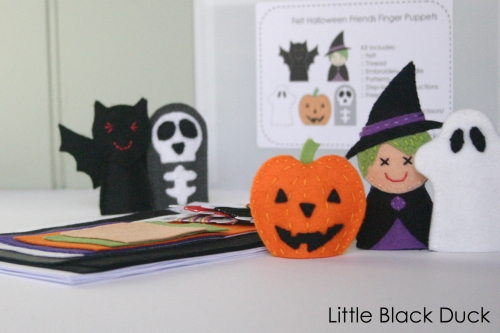 Halloween Friends Finger Puppet Kit