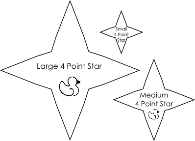 4 Point Star Templates