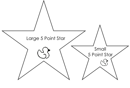 5 Point Star Templates