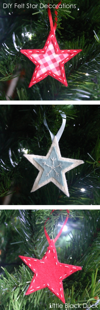 DIY felt Star Decorations