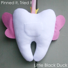 Tooth Fairy Pillow Pocket Detail