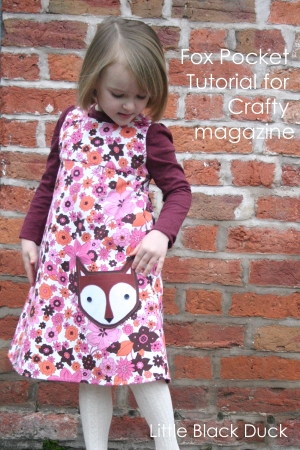 Fox Pocket tutorial by Little Black Duck for Crafty magazine