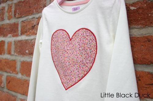 Heart T-shirt angle