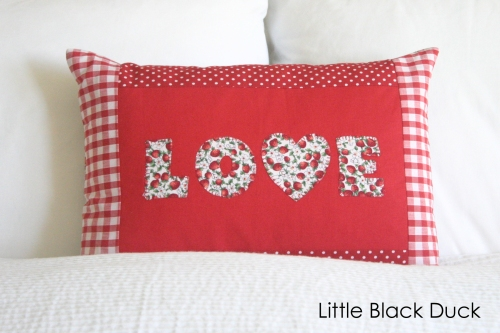 Red Love Cushion Detail