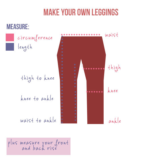 Make your own DIY leggings - by Random Happy Blog