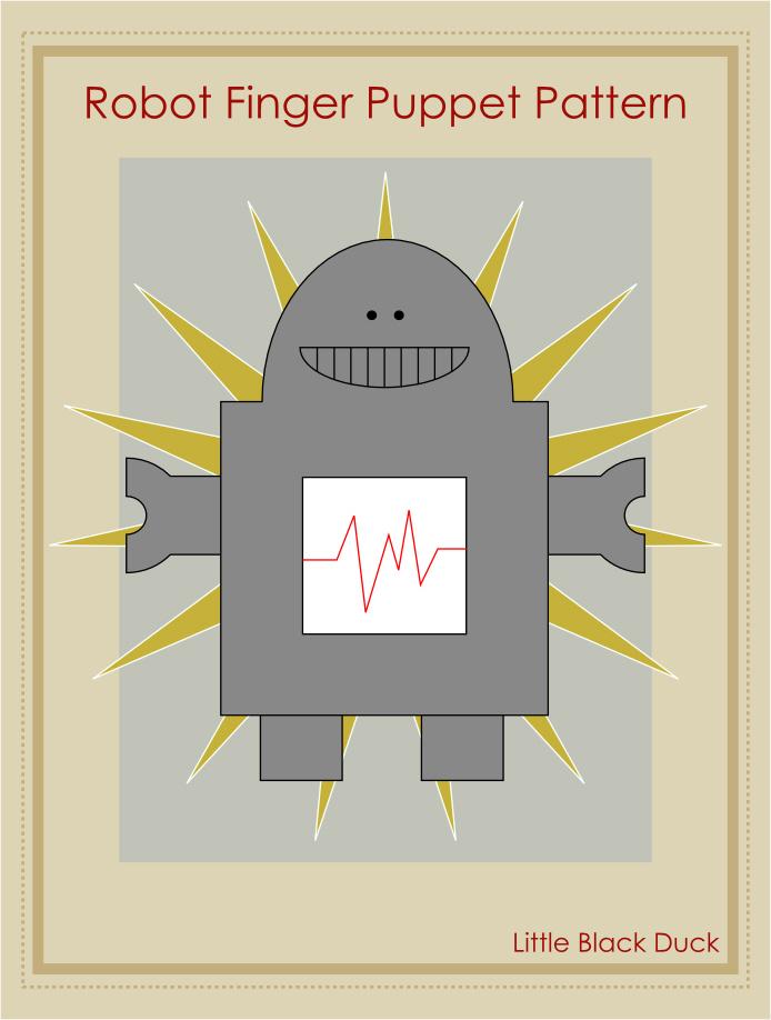 Felt Robot Pattern Robot Finger Puppet Pattern