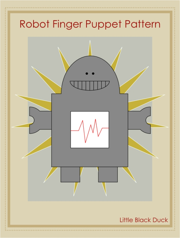Robot Finger Puppet Pattern Coming Soon