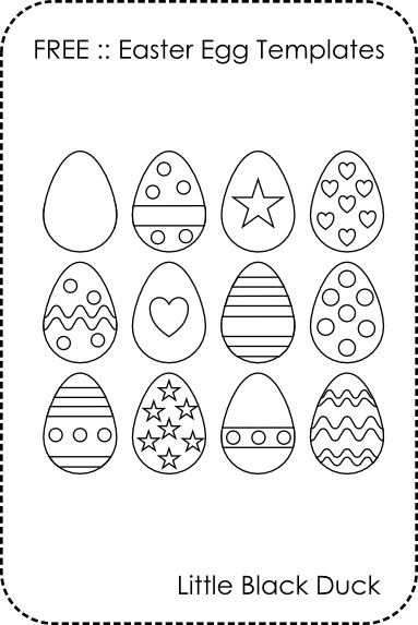 small easter egg template - free easter egg templates little black duck