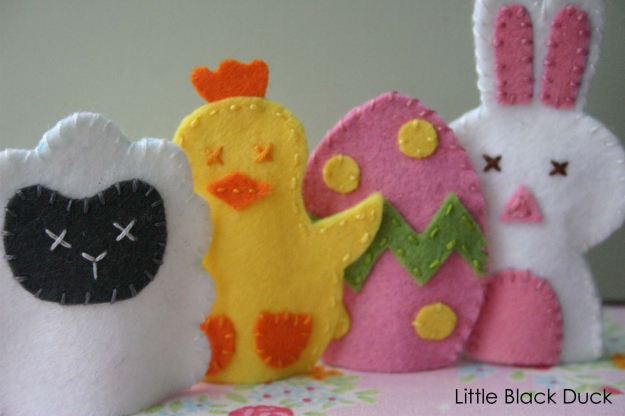 Easter Friends Finger Puppet Sewing Pattern